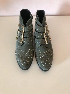 Bronx Low boot doré-gris vert cuir