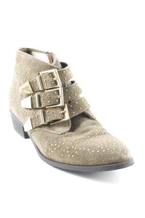 Bronx Ankle Boots grüngrau Street-Fashion-Look