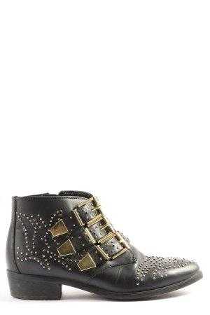 Bronx Booties schwarz-goldfarben Casual-Look