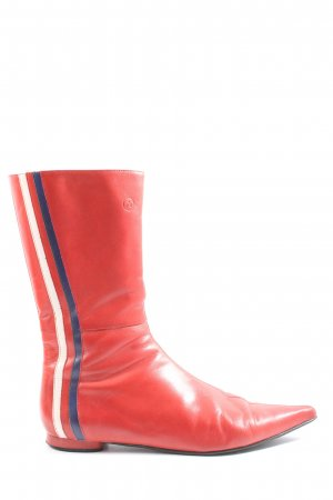 Bronx Booties rot Streifenmuster Casual-Look