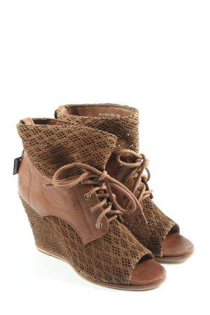 Bronx Sandały na obcasie brązowy W stylu casual