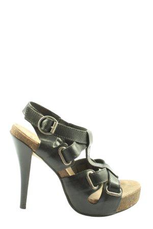 Bronx Hoge hakken sandalen zwart casual uitstraling