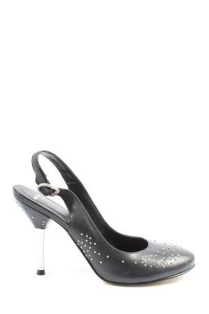 Bronx High Heels schwarz-silberfarben Elegant