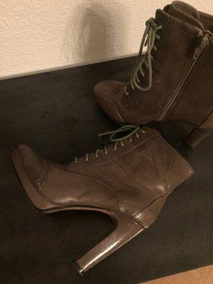 Bronx, High Heels, feines Leder, Budapester Nähte, Gr.38, 2x getragen, letzte Reduzierung