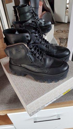 Bronx Jaxstar Boots mit annehmbarer Tasche aus soft nappa Leder