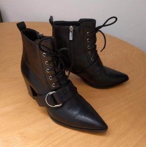 Bronx Bottines à lacets noir cuir