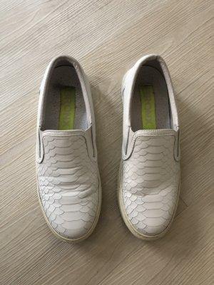 Bronx Loafers Sneaker Slipper Slip on Schuhe weiß Größe 39