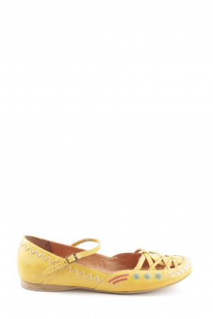 Bronx Scarpa Mary Jane giallo pallido stile casual