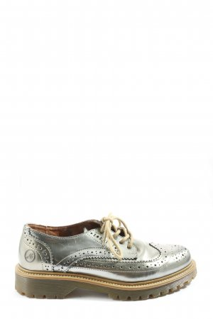 Bronx Oxfords bronze-colored themed print elegant