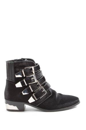 Bronx Reißverschluss-Stiefeletten schwarz Street-Fashion-Look