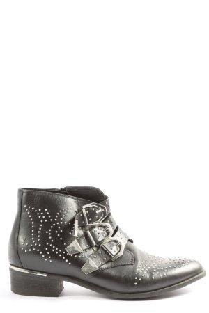 Bronx Reißverschluss-Stiefeletten schwarz Casual-Look