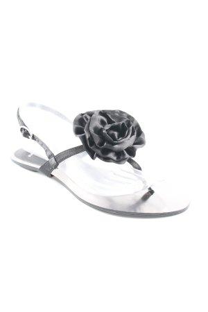 Bronx Riemchen-Sandalen silberfarben-schwarz Elegant