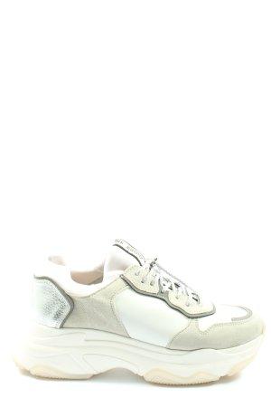 Bronx Instapsneakers wit-lichtgrijs casual uitstraling