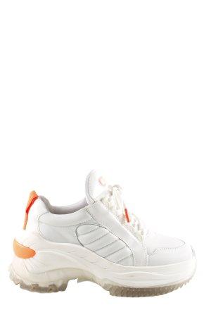 Bronx Schlüpfsneaker weiß-neonorange extravaganter Stil