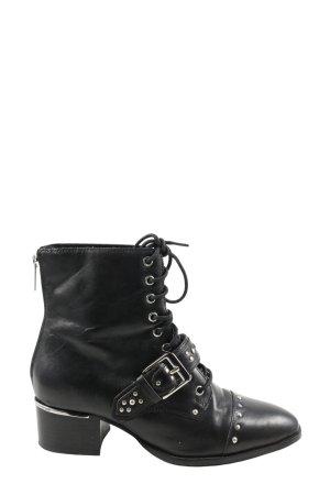 Bronx Schnür-Stiefeletten schwarz Casual-Look