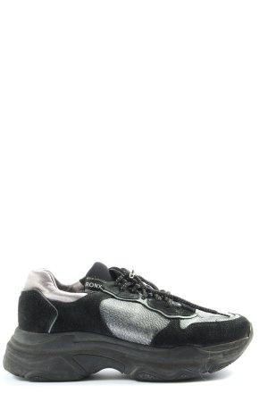 Bronx Schnürsneaker schwarz-silberfarben Casual-Look