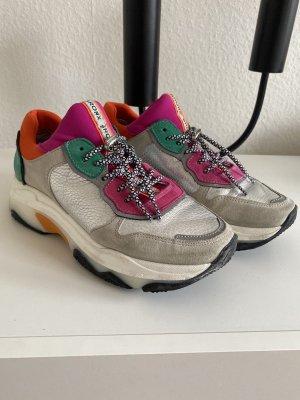 BRONX Schuhe grau/silber/pink/grün Größe 38