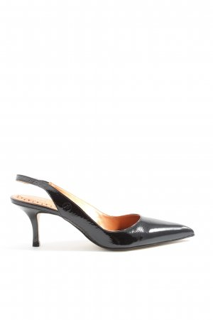 Bronx Slingback-Pumps schwarz Casual-Look
