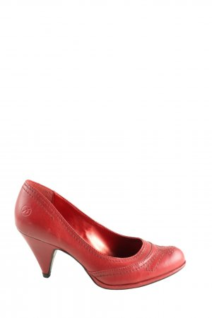 Bronx Spitz-Pumps rot Casual-Look