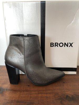 Bronx Bottines à fermeture éclair argenté-bronze