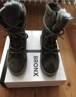 Bronx Stiefeletten, Khaki, 36,