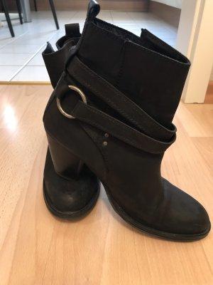 Bronx Stiefeletten schwarz Leder
