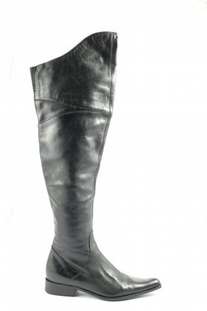 Bronx Wide Calf Boots black casual look