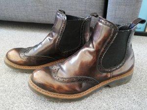 Bronze Chelsea boots 37 glänzend