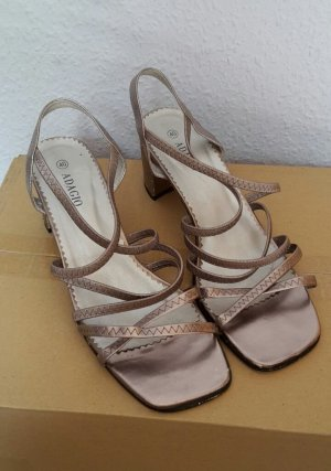 Adagio Sandalias de tacón de tiras marrón arena