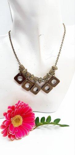 Bronzefarbene ausgefallene Halskette, größenverstellbar
