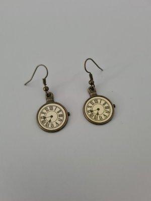 bronzefarbene Uhrohrringe klein