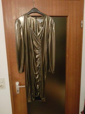 Bronzefarbenes Langarmkleid