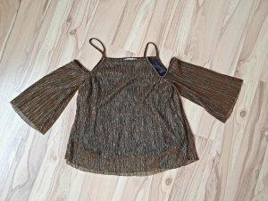 Mango Boatneck Shirt bronze-colored
