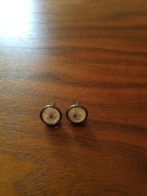 Bronzene Ohrringe Pusteblumen