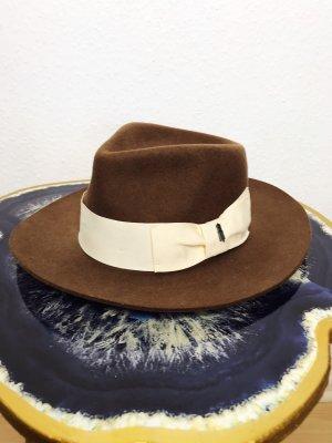 Wollen hoed camel-licht beige