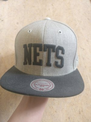 Mitchell & Ness Baseball Cap black-light grey