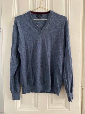 Brooks Brothers Maglione di lana blu fiordaliso