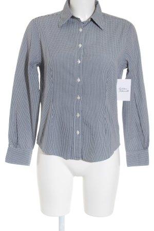 Brooks Brothers Chemise à manches longues bleu foncé-blanc motif à carreaux