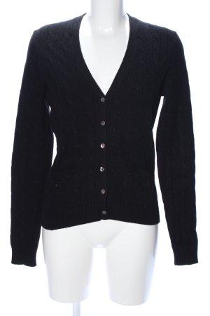 Brooks Brothers Cardigan tricotés noir torsades style décontracté