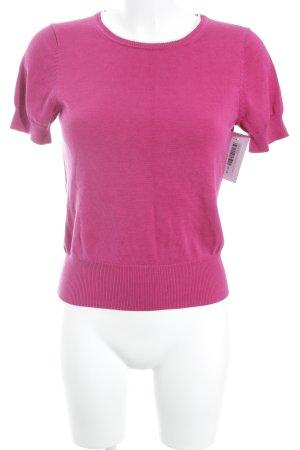 Brooks Brothers Strickshirt violett-weiß Casual-Look