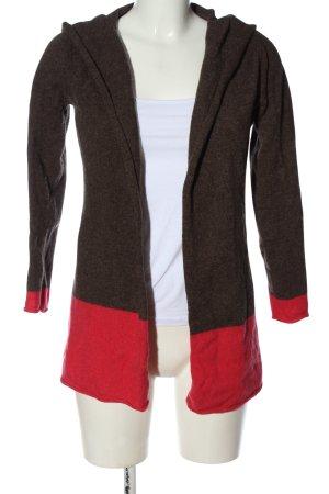 Brookshire Cardigan light grey-red flecked elegant