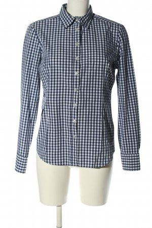Brookshire Flannel Shirt white-blue allover print casual look