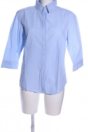 Brookshire Shirt Blouse blue check pattern business style