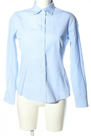 Brookshire Shirt Blouse blue-white striped pattern business style