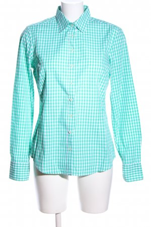 Brookshire Shirt Blouse turquoise-white allover print casual look