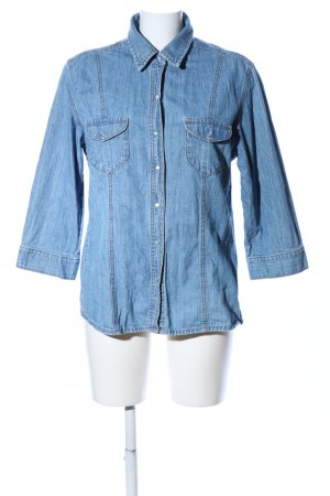 Brookshire Camicia denim blu stile casual
