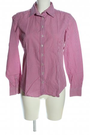 Brookshire Checked Blouse pink-white check pattern casual look