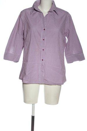 Brookshire Short Sleeve Shirt white-lilac striped pattern elegant