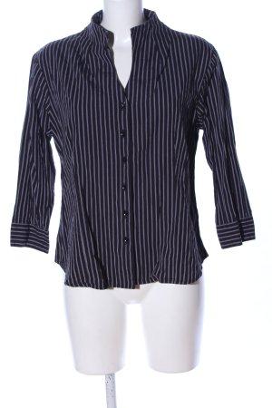 Brookshire Langarm-Bluse schwarz-hellgrau Allover-Druck Business-Look