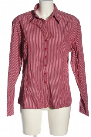 Brookshire Long Sleeve Shirt red-white allover print business style